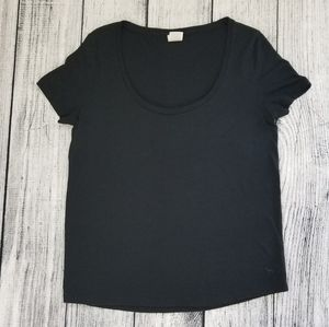 VS Pink Black Scoop Neck Short Sleeve Tee